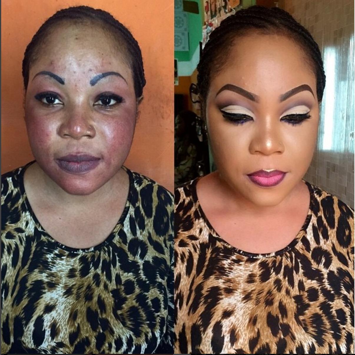 10 Most Shocking Makeup Transformations