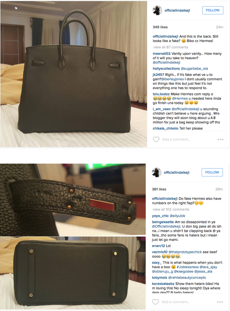 169883ea12ac Another Instagram user has since shared similar evidence as Linda s to  prove that Hèrmes copies can be as detailed as the original.