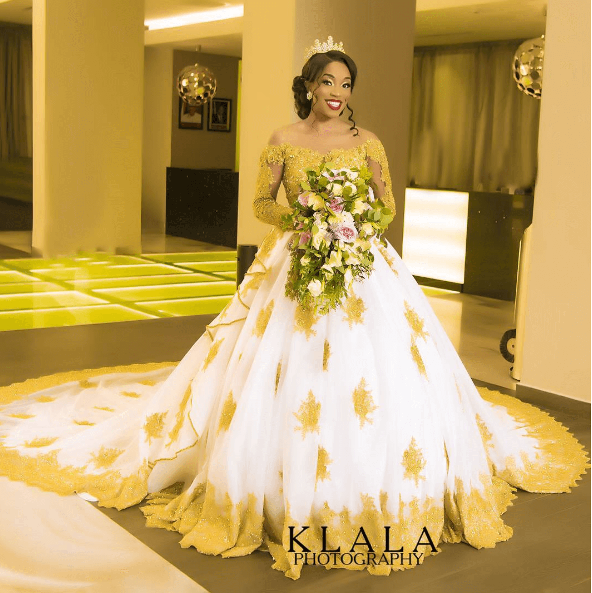 This Gold-Detailed April By Kunbi Wedding Dress Is What