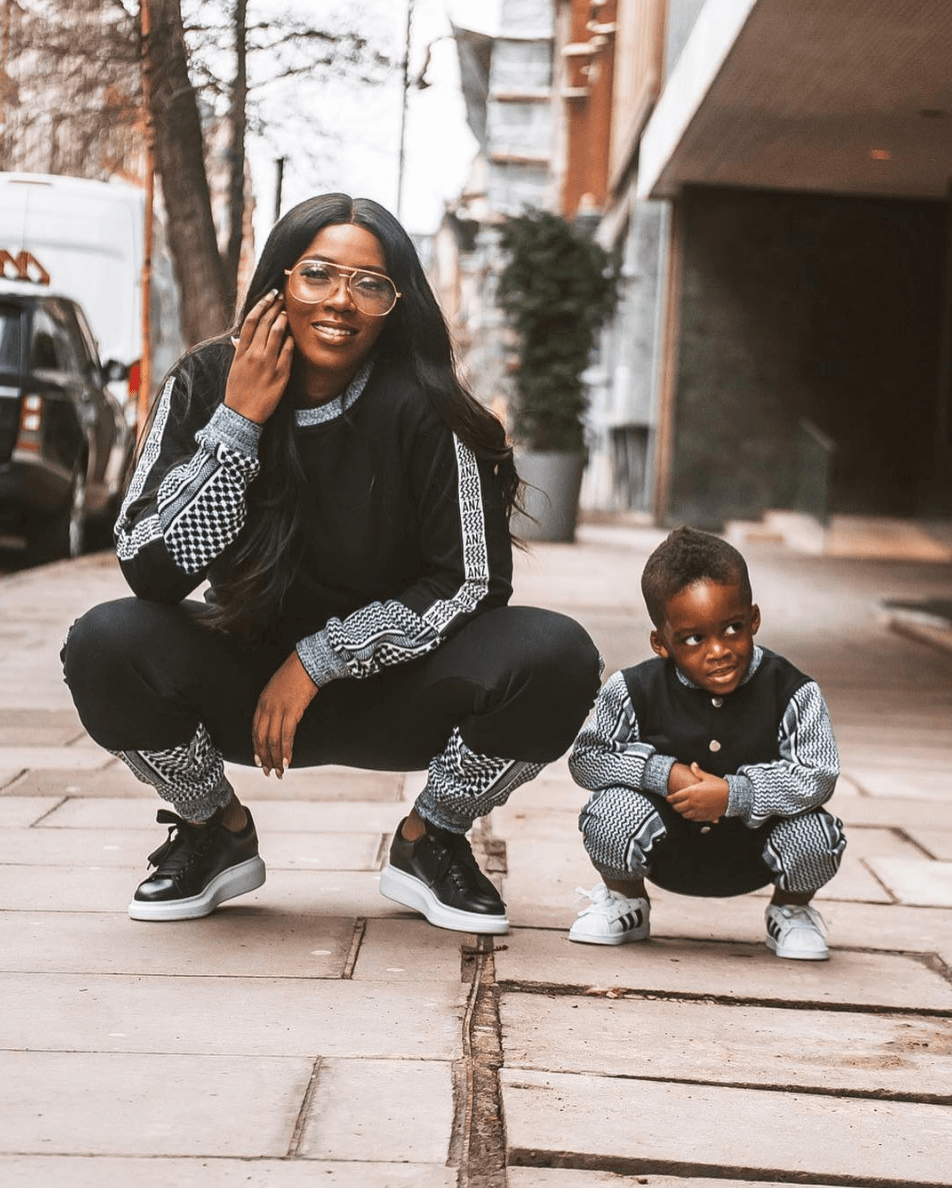 Image result for tiwa savage and son