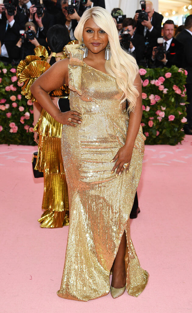 NEW YORK, NEW YORK - MAY 06: Mindy Kaling attends The 2019 Met Gala Celebrating Camp: Notes on Fashion at Metropolitan Museum of Art on May 06, 2019 in New York City. (Photo by Dimitrios Kambouris/Getty Images for The Met Museum/Vogue)